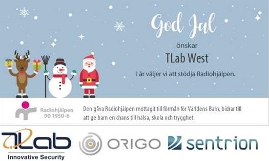 TLab West tillönskar alla en God Jul och ett Gott Nytt År